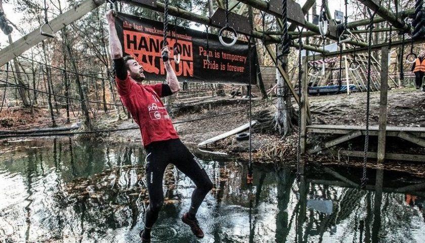 Stijn Elferink in aktie bij de Hang-On Run